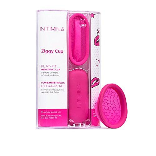 Intimina Ziggy Cup – Extradünne und für Sex geeignete Menstruationstasse mit flacher Passform