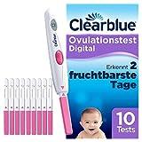Clearblue Kinderwunsch Ovulationstest Digital - Fruchtbarkeitstest fr Eisprung, 10 Tests