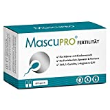 MascuPRO® Fertilität Mann - Fruchtbarkeit - Spermienproduktion + 60 Kapseln + L-Carnitin Carnipure®, L- Arginin, Zink + Vitamine Mann Kinderwunsch
