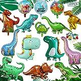 MEISHANG 3D Dinosaurier Ballon,Dinosaurier Geburtstagsparty Deko,Folienballon Kinder Gross,Dinosaurier Party Set Deko,Geburtstag Deko Junge Dinosaurier,Dino Luftballons Party