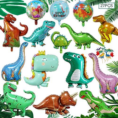 3D Dinosaurier Ballon,Dinosaurier Geburtstagsparty Deko,Folienballon Kinder Gross,Dinosaurier Party Set Deko,Geburtstag Deko Junge Dinosaurier,Dino Luftballons Party (B)